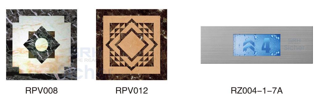 Gạch lót sàn và màn hình thiển thị tầng