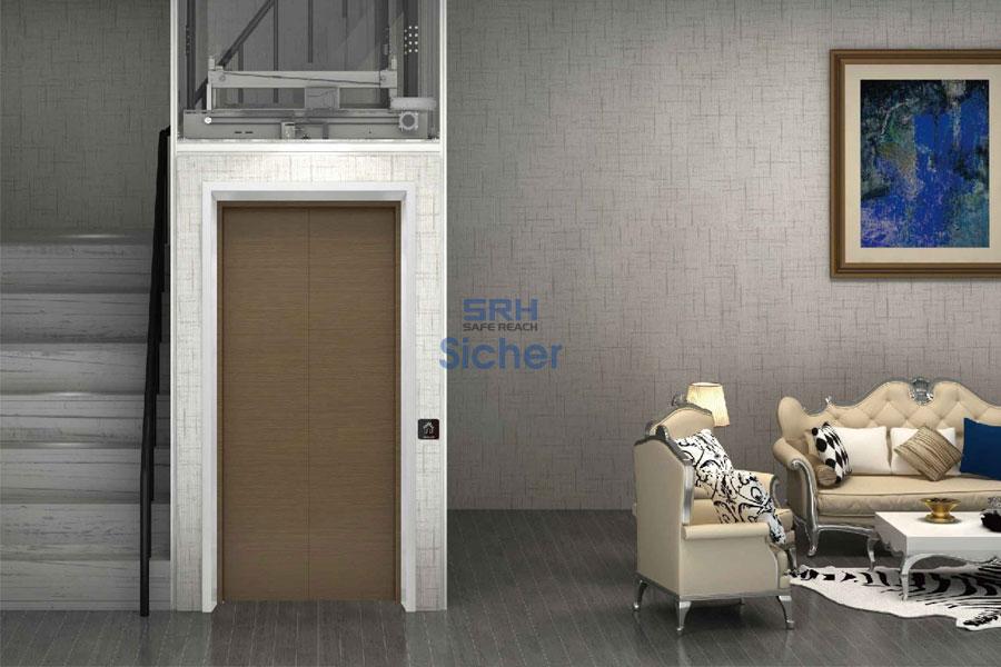 cửa thang máy gia đình phối các tầng