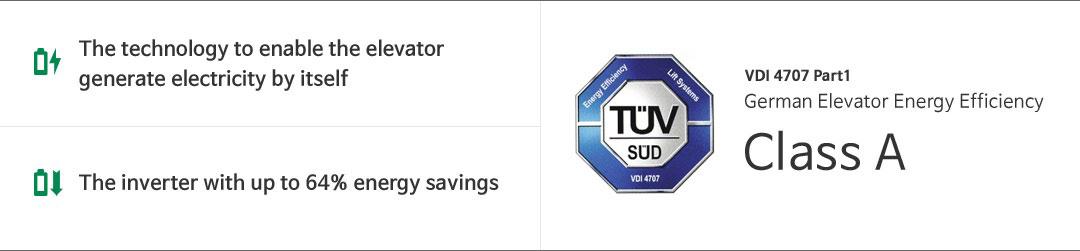 chứng nhận thang máy hyundai elevator tiết kiệm năng lượng